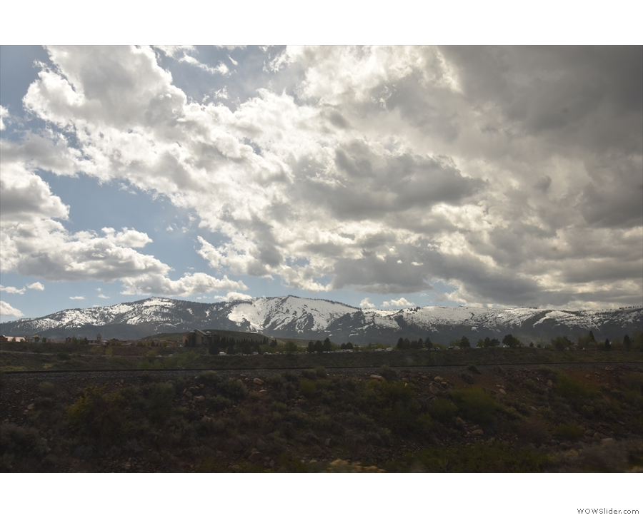 I love the background of the snow-capped Sierra Nevada.