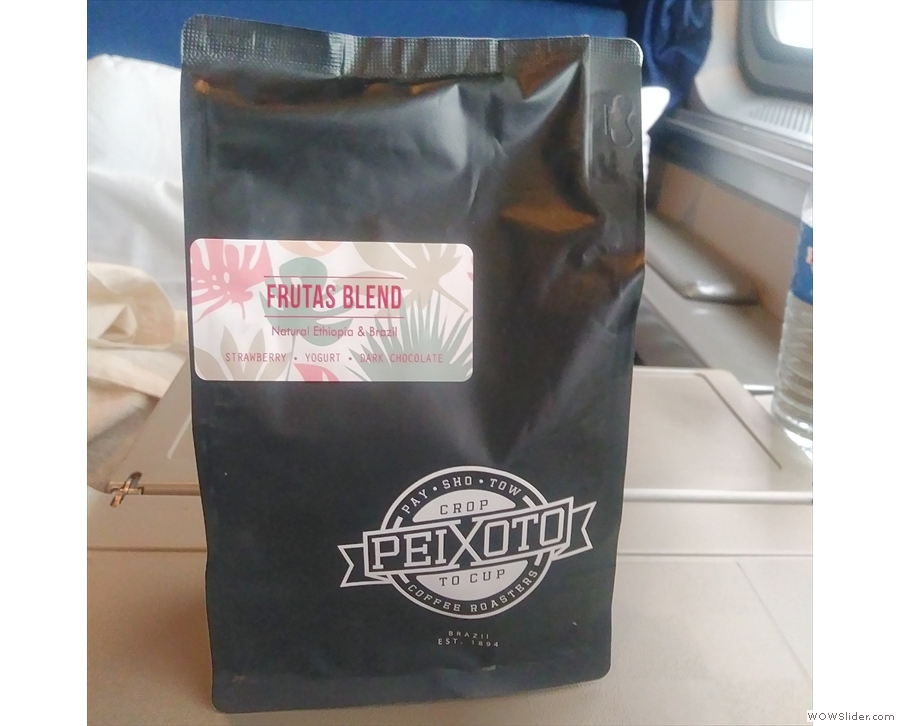 We're using Peixioto (from Chandler, Arizona) and its Frutas Blend.