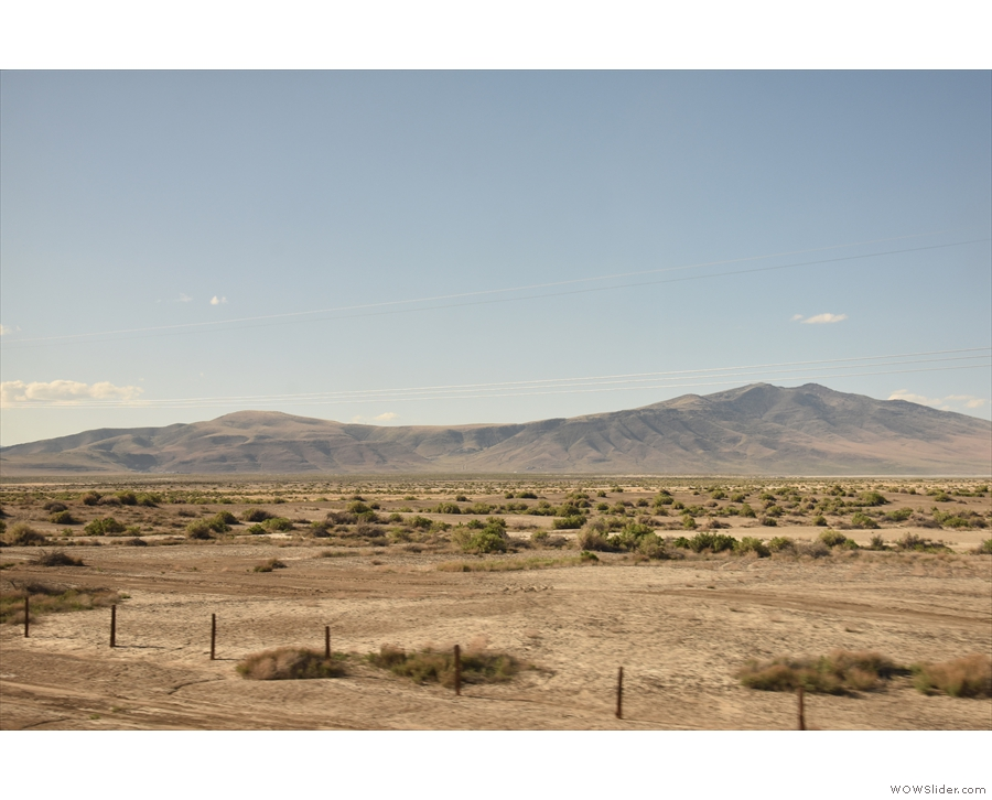 We'd been going east since Reno, but at Fernley, the river goes north and...