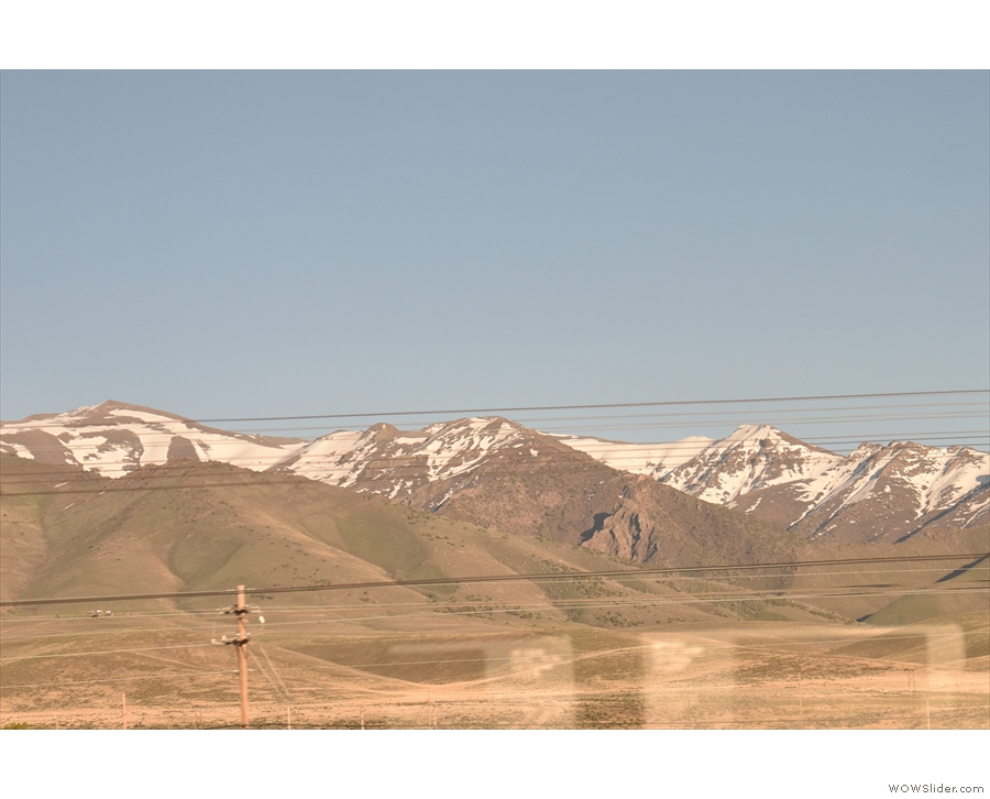 ... all the while with these amazing mountains for company in the background.