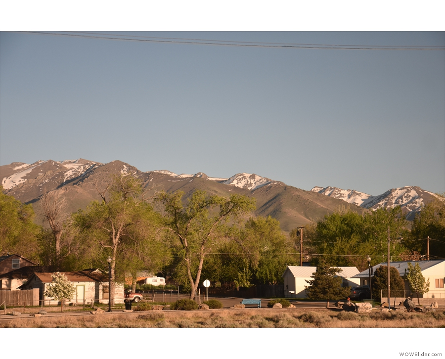 We passed a couple of towns on the way, but this is the outskirts of Winnemucca...