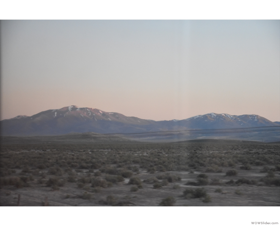 We have one last view of the mountains...