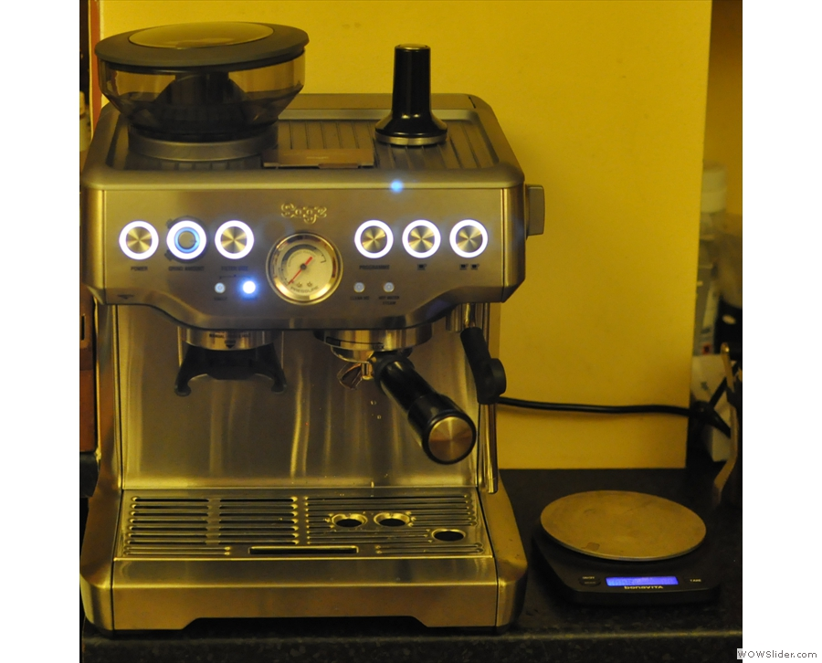 This is what replaced my Silvia: a Sage Barista Express, fresh out of the box in...