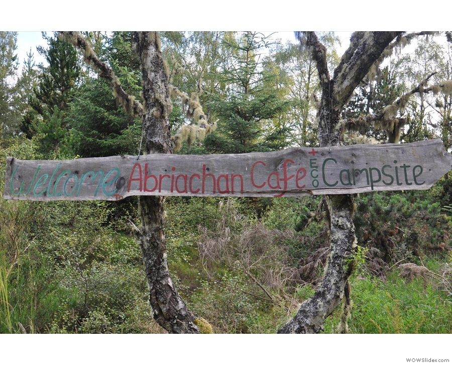 Abriachan Campsite and Cafe, still going strong from 2012!