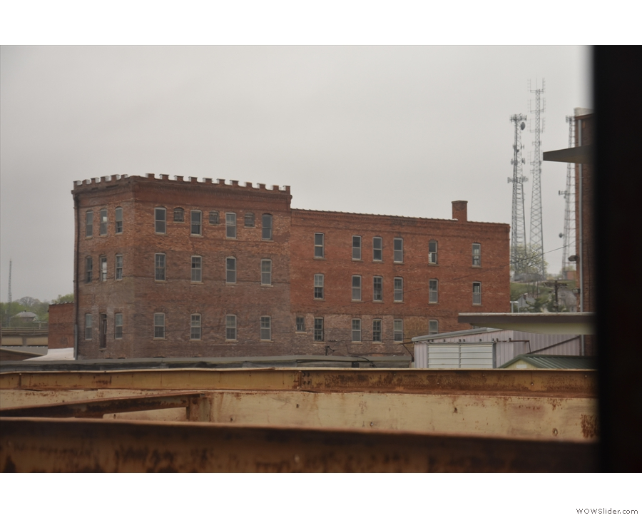 This old, industrial building on S Marion St, which we pass just before the station, is neat.