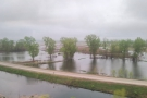 Even though the flood waters have receded, the flooding is still pretty bad.