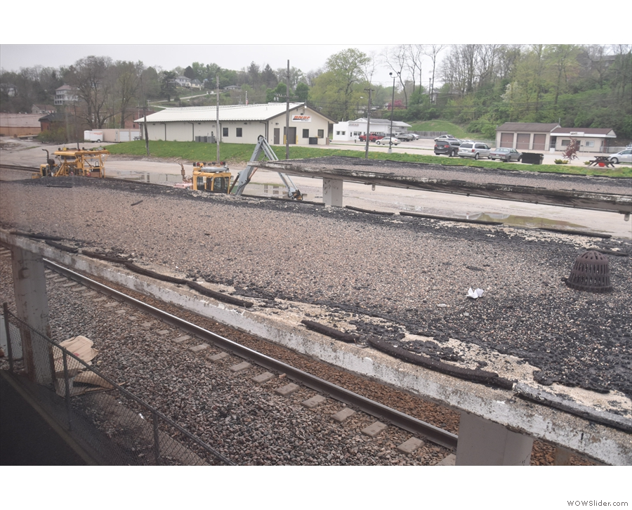 ... and lots of the track was in the process of being replaced.