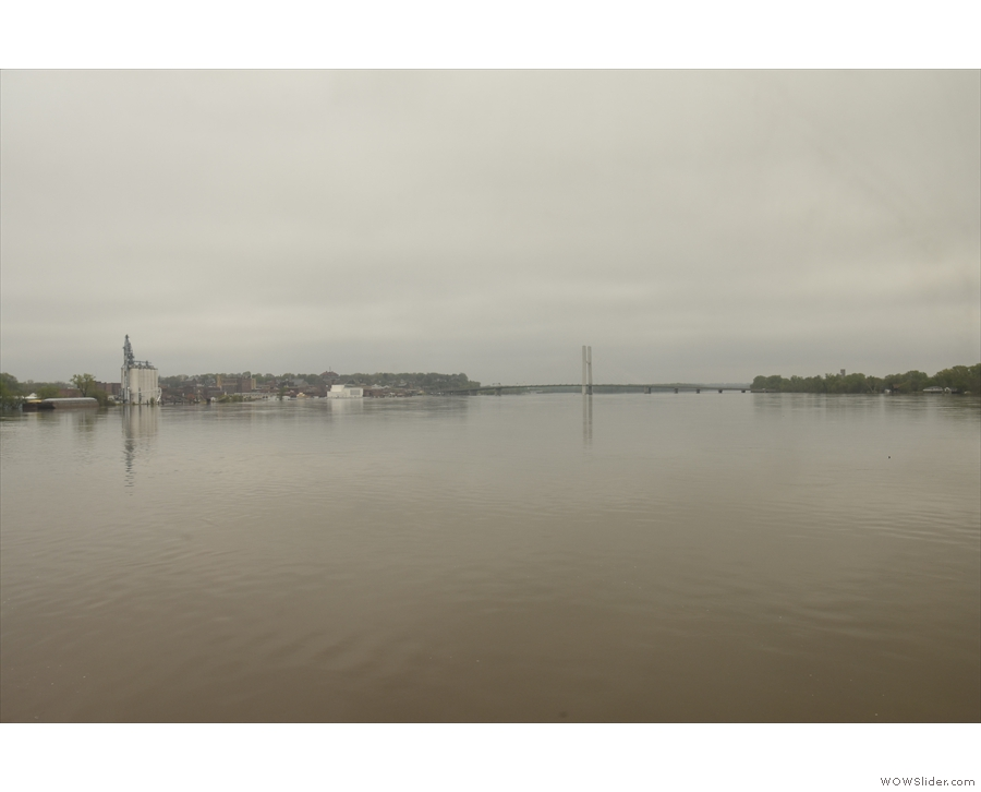 We get some amazing views north along the Mississippi River.