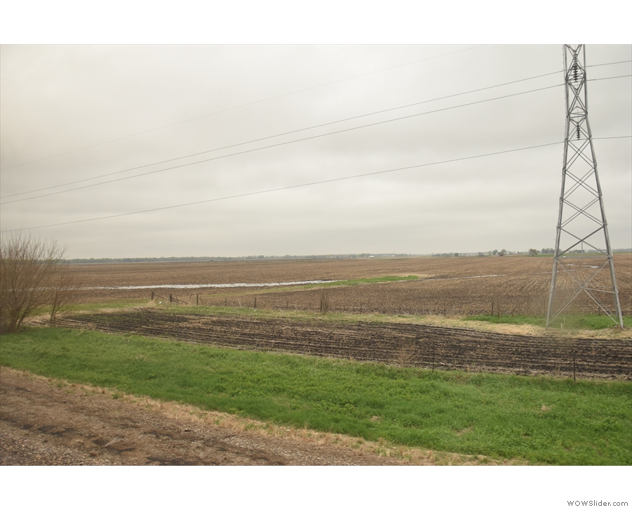 Mind you, this bit of farmland became very familiar: we were stopped here for 75 minutes!