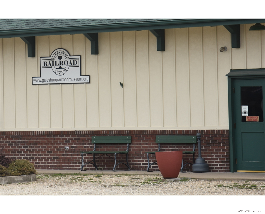 ... home to the Galesburg Railroad Museum.