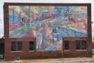 ... which is part of the Children's Museum, has this fine mural called 'First a Dream'.