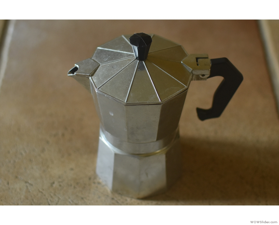The humble moka pot, a feature in many kitchens around the world.