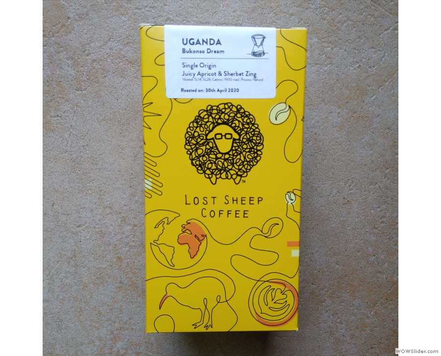 Lost Sheep's Bukonso Dream from Uganda describes itself as 'juicy apricot & sherbet zing'.