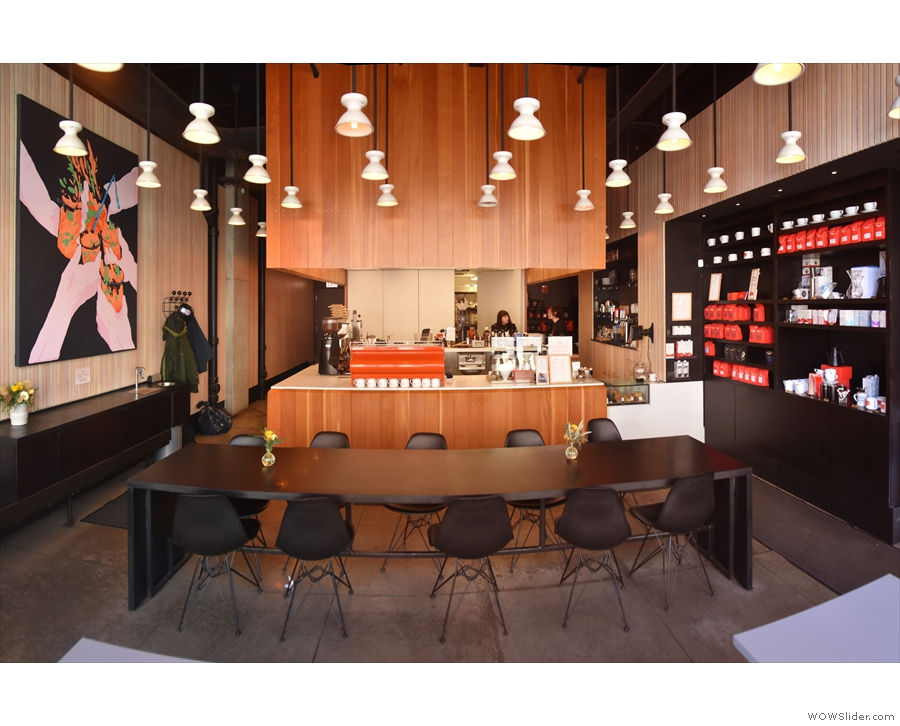 A view of the counter and the back of Intelligentsia.