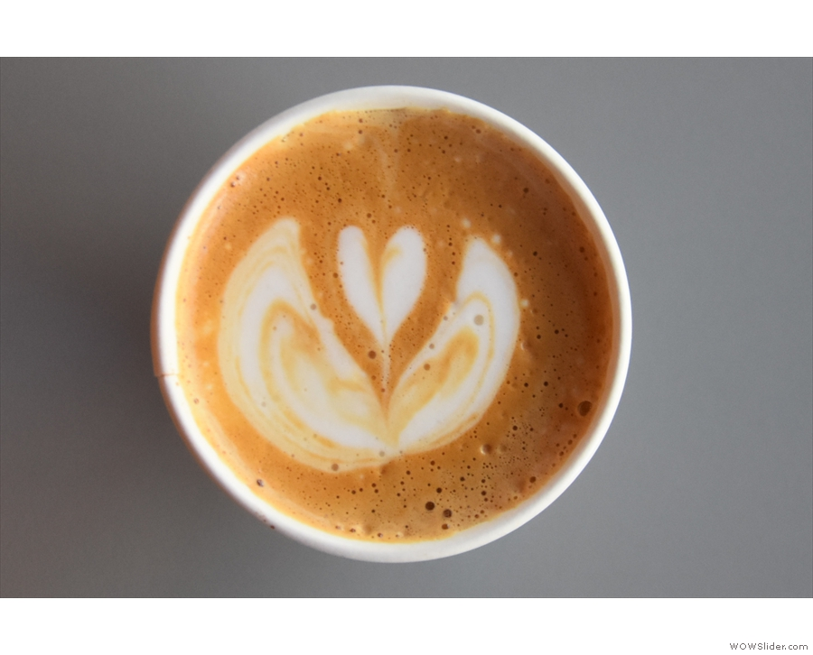 Due to the COVID-19 restrictions, Intelligentsia was serving in disposable cups only...