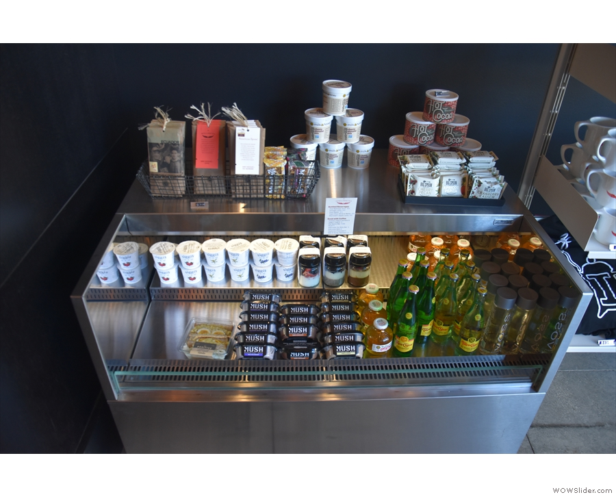 ... before there's a change of pace with a refrigerated grab-and-go cabinet.