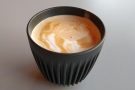 ... so I had to ruin the latte art by pouring my coffee into my HuskeeCup for drinking!