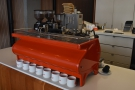 ... before we reach the La Marzocco Strada espresso machine, with its grinders beyond.