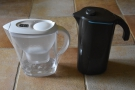 I use a water filter at home (left), and I also have a Peak Water filter (right).