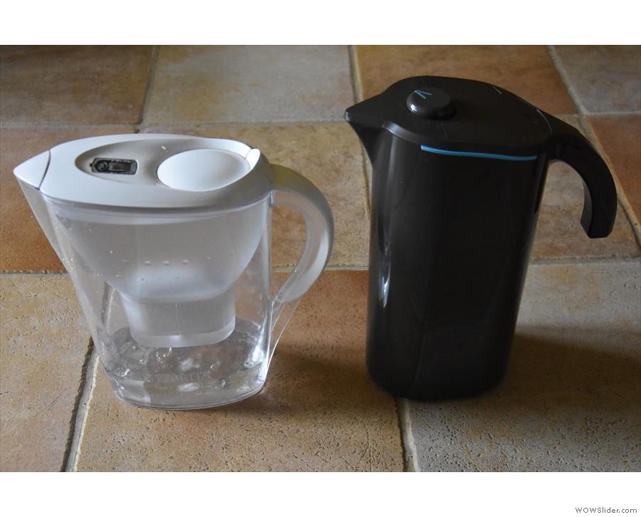 The Peak Water jug is taller...