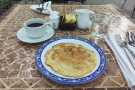 Not a traditional Vietnamese breakfast, I know, but my pancake was excellent!
