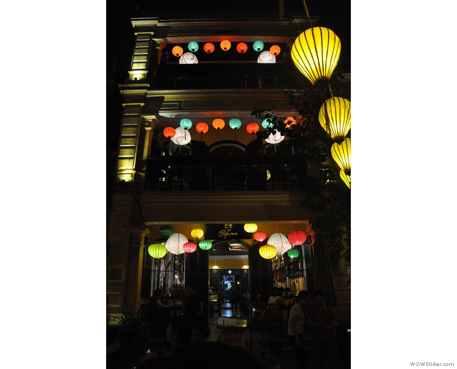 ... as are the buildings, many of which are adorned with lanterns.