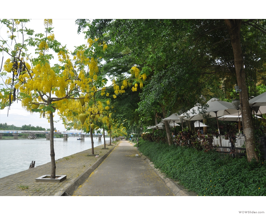 The northern bank of the river has a lovey, broad river walk which leads all the way...