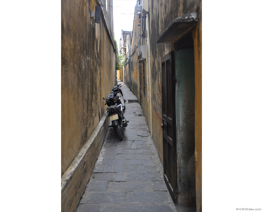 Mind you, it's not just the roads. Even the narrowest of alleys can't escape the bikes!