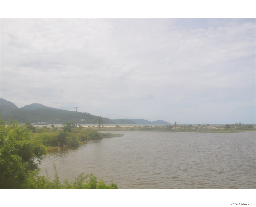 In under 10 minutes, we're out of the town and looking over the sweep of Danang Bay...