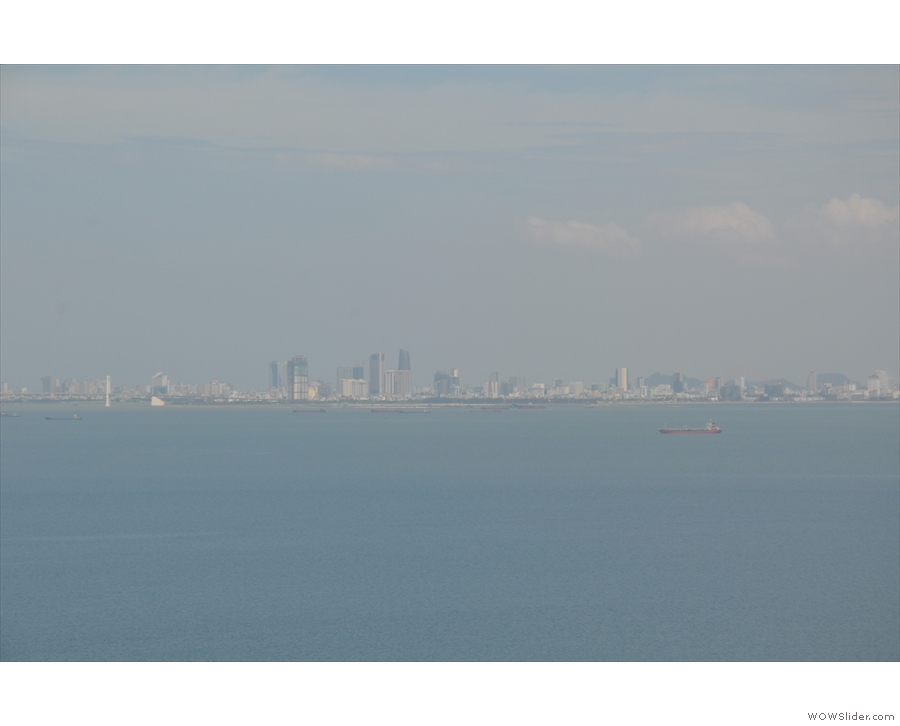 ... with Danang still visible on the far horizon.