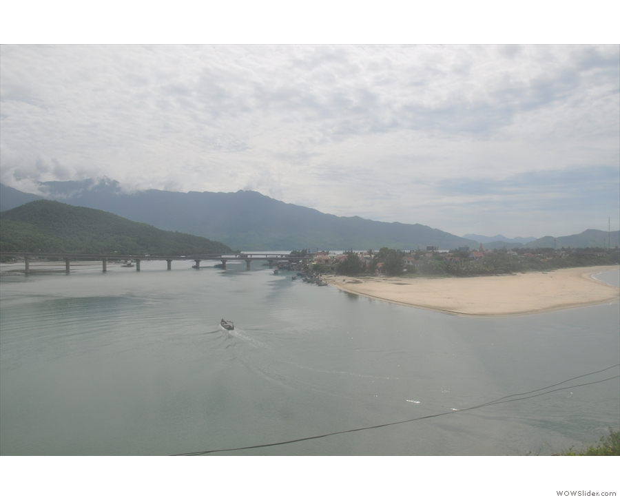 ... we find ourselves overlooking Lăng Cô, a large, tidal lagoon with a resort town.