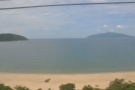 ... a sweeping bay with a sandy beach that looks east, out over Danang Bay...