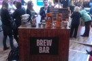 The Matthew Algie brew bar, demonstrating two brew methods on two types of coffee.