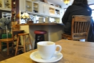 My espresso sneaks a look around the place.