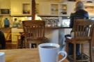 By this time I'd moved tables (I was taking up too much space). Here my coffee takes in the new view.