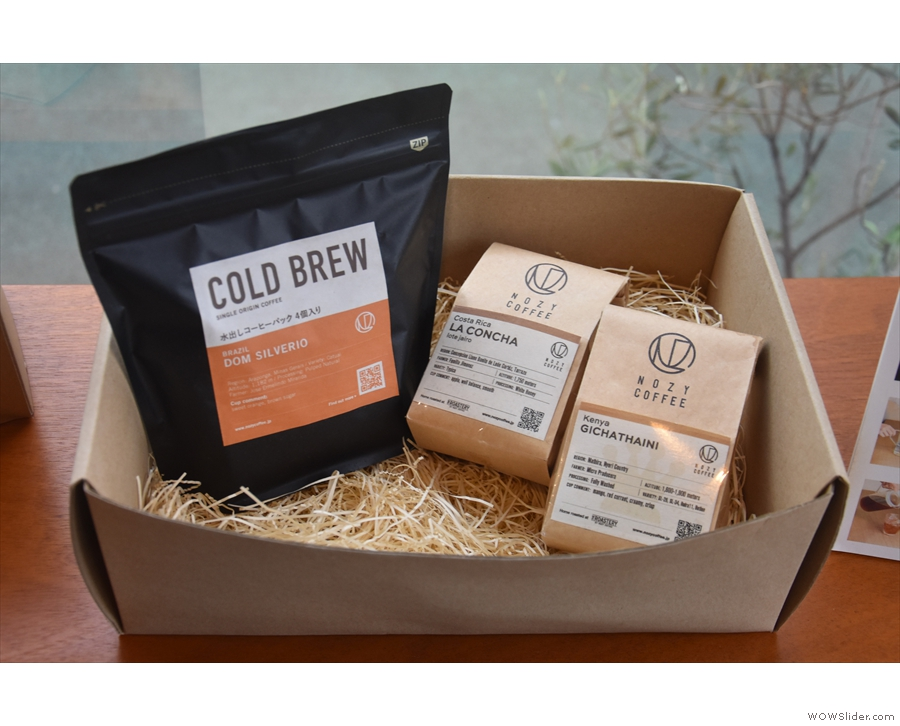 There are retail bags of coffee, plus one specifically for cold brew...
