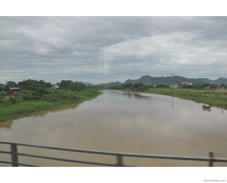 Another river. Well, actually a branch of the Nam Ma River as it flows into the nearby bay.