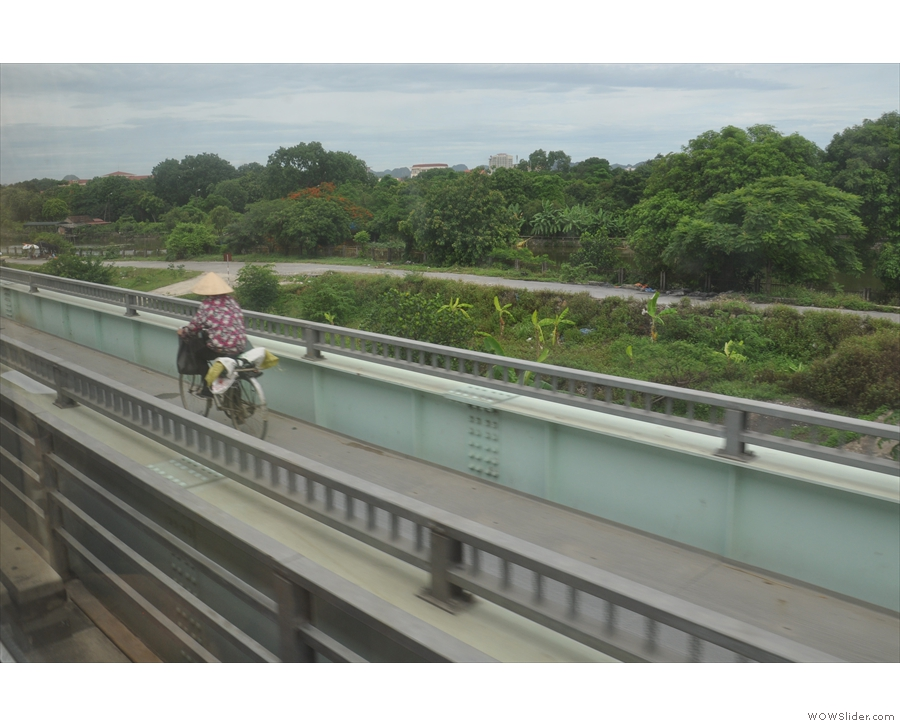 ... and, as is so often the case in Vietnam, we're not the only ones on the bridge.
