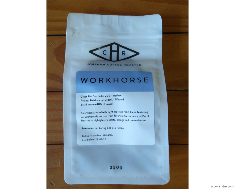 I also bought a bag of the Workhorse blend to take home with me, along with...