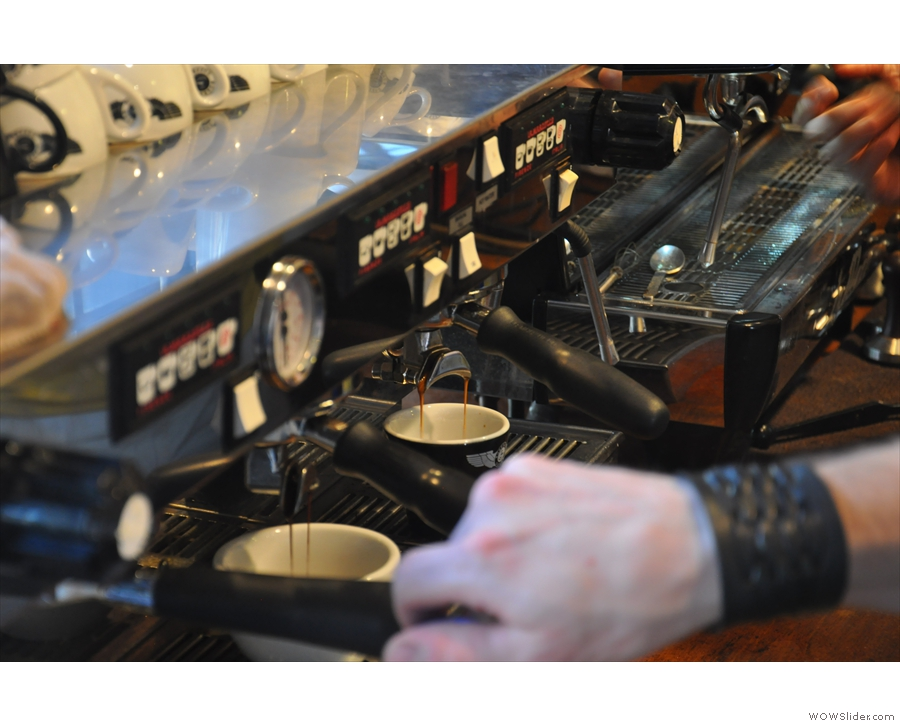 The espresso machines in action!