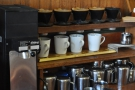 ... and the coffee is left to brew. Here Gabi has four on the go at the same time!