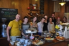 And here's the whole team, starting with Greg on the left. I think it then goes Sean (Barista), Alice, Robbie, Lucy, Zsophia, Jason (Chef), Eva (Manager) and Gabi