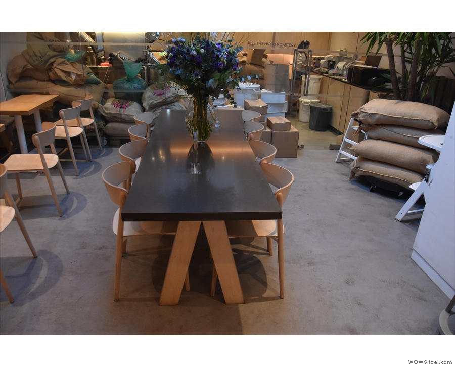 Talking of what's out, this communal table (from Kiss the Hippo, Richmond) is unlikely to...