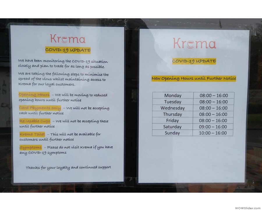 As the COVID-19 pandemic deepened, my local coffee shops, such as Krema, did their...