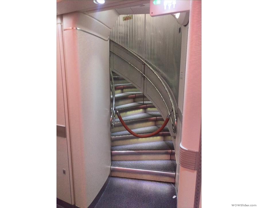 This is how big an A380 is: there are stairs! At the back of the plane! Stairs I tell you!