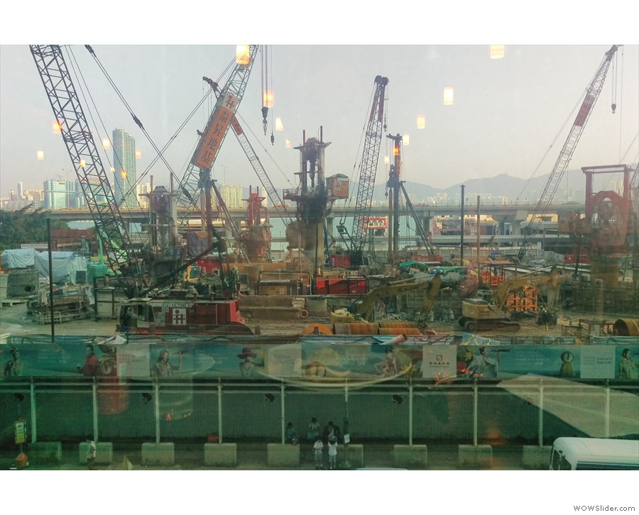 I also enjoyed the view from the window of the magnificent building site across the way.