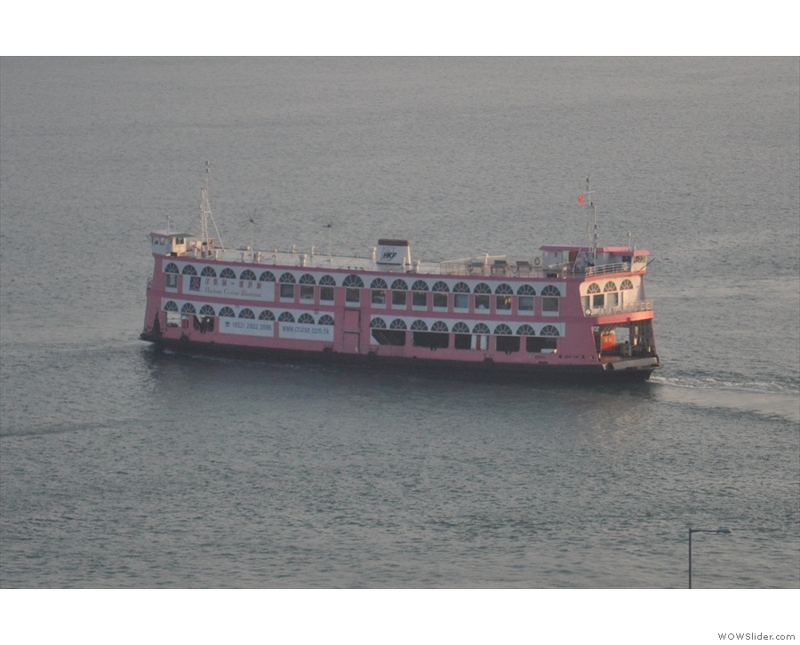 Other river traffic includes these larger car ferries...