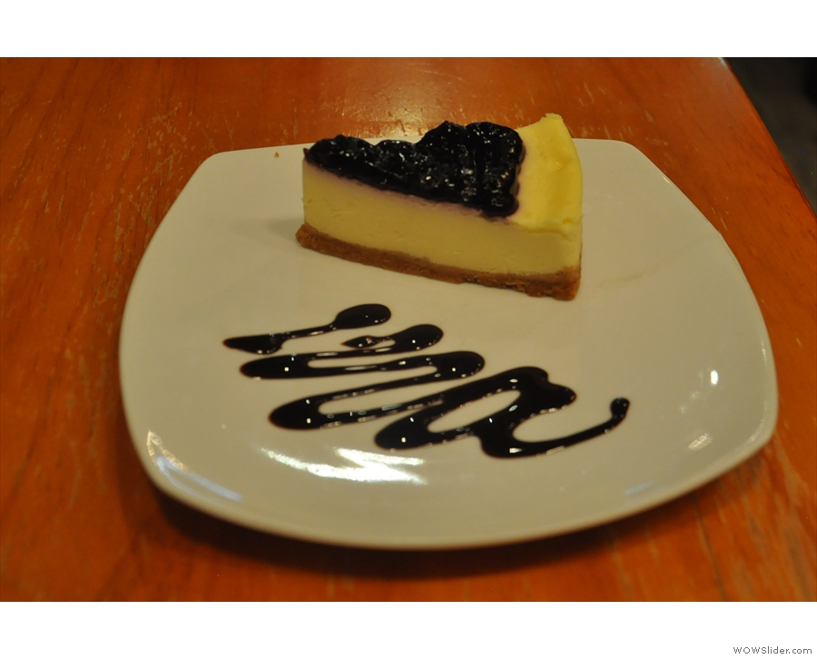 My meals were mostly western cuisine, even desserts, such as this cheesecake from N1.