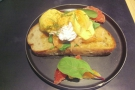 Eggs featured multiple times. Here's my Eggs Royale from the The Cupping Room, Central.