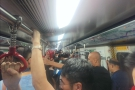 This, by the way, is a typical metro experience. The platforms are similarly crowded!